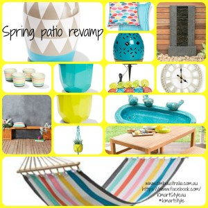 Spring patio revamp using Kmart homewares