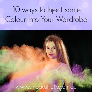 how to add some color to your wardrobe