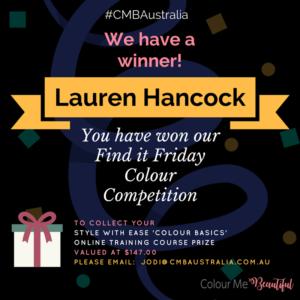 Congratulations, Lauren Hancock!